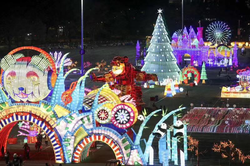 东方彩灯·点亮世界丨北美最大彩灯盛会-Hello Panda Festival进入安装阶段
